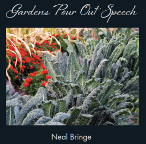 Gardens Pour Out Speech - cover of new book, releases August 1